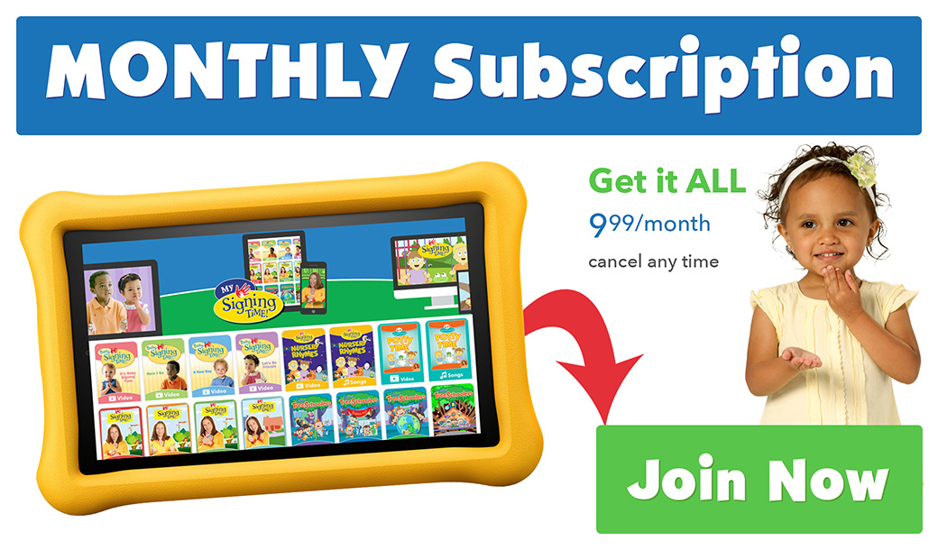 Signing Time All-Access Digital Subscription Monthly